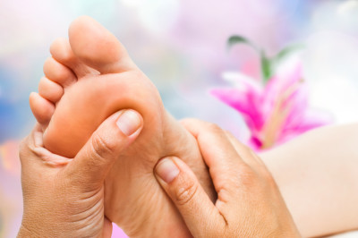 Reflexology on right foot