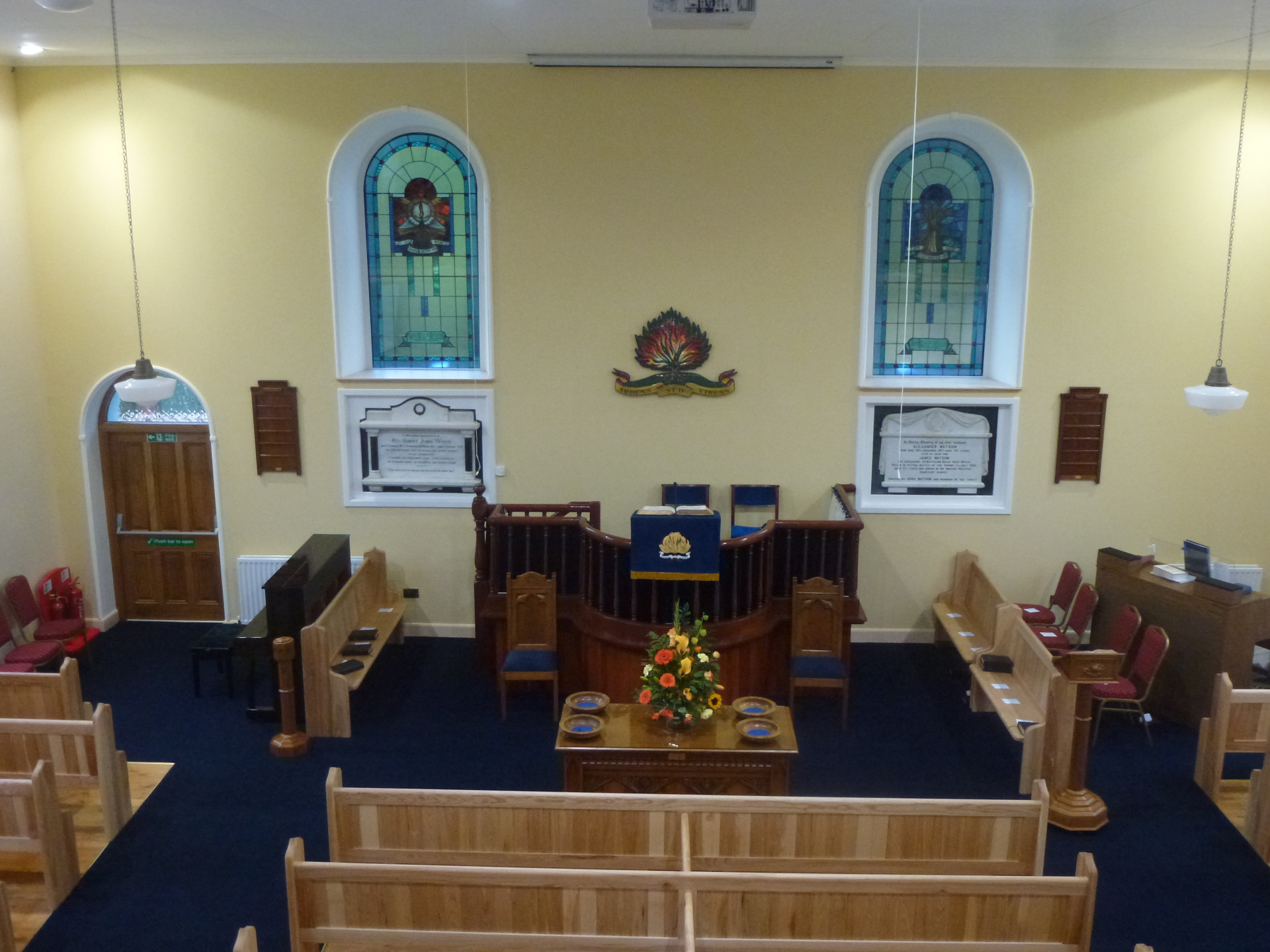 interior of Clare Presbyterian Church Tandragee