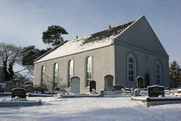 Clare Presbyterian Church Tandragee in winter