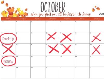 October Market Cancelation Notification