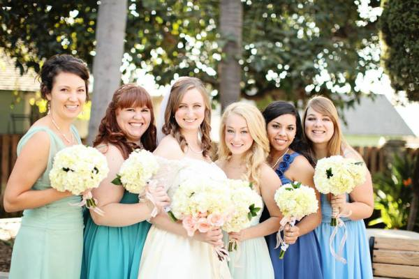 Leigh and her Bridesmaids