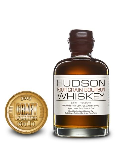 Hudson Four Grain Bourbon Whiskey, Tuthilltown Spirits $49