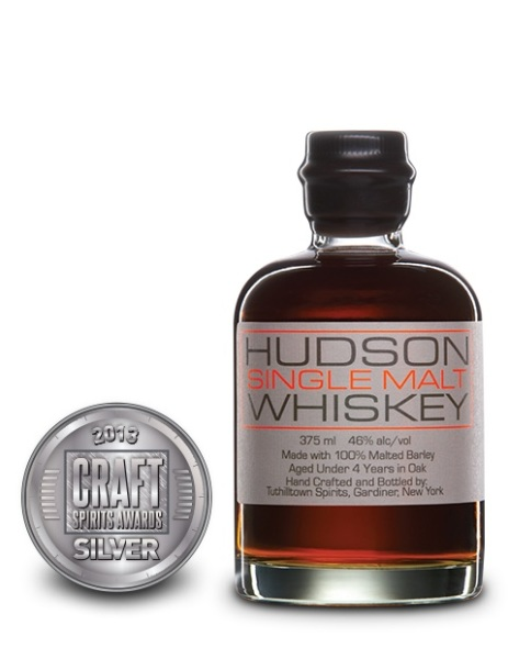 Hudson Single Malt Whiskey, Tuthilltown Spirits $52