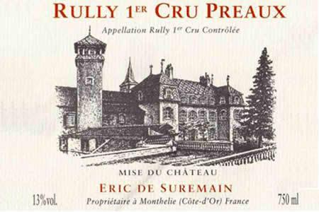 Rully 1er Cru Preaux (Organic & Biodynamic), Domaine Eric de Suremain $46