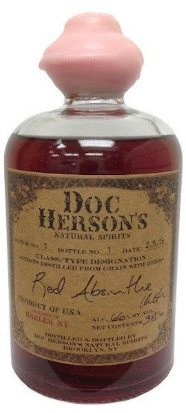 Red Absinthe, Doc Herson's Natural Spirits $45 (375mL),  $14 (100mL)