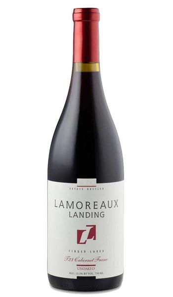 """""""T23"""" Cabernet Franc (Un-Oaked), Lamoreaux Landing $24"""