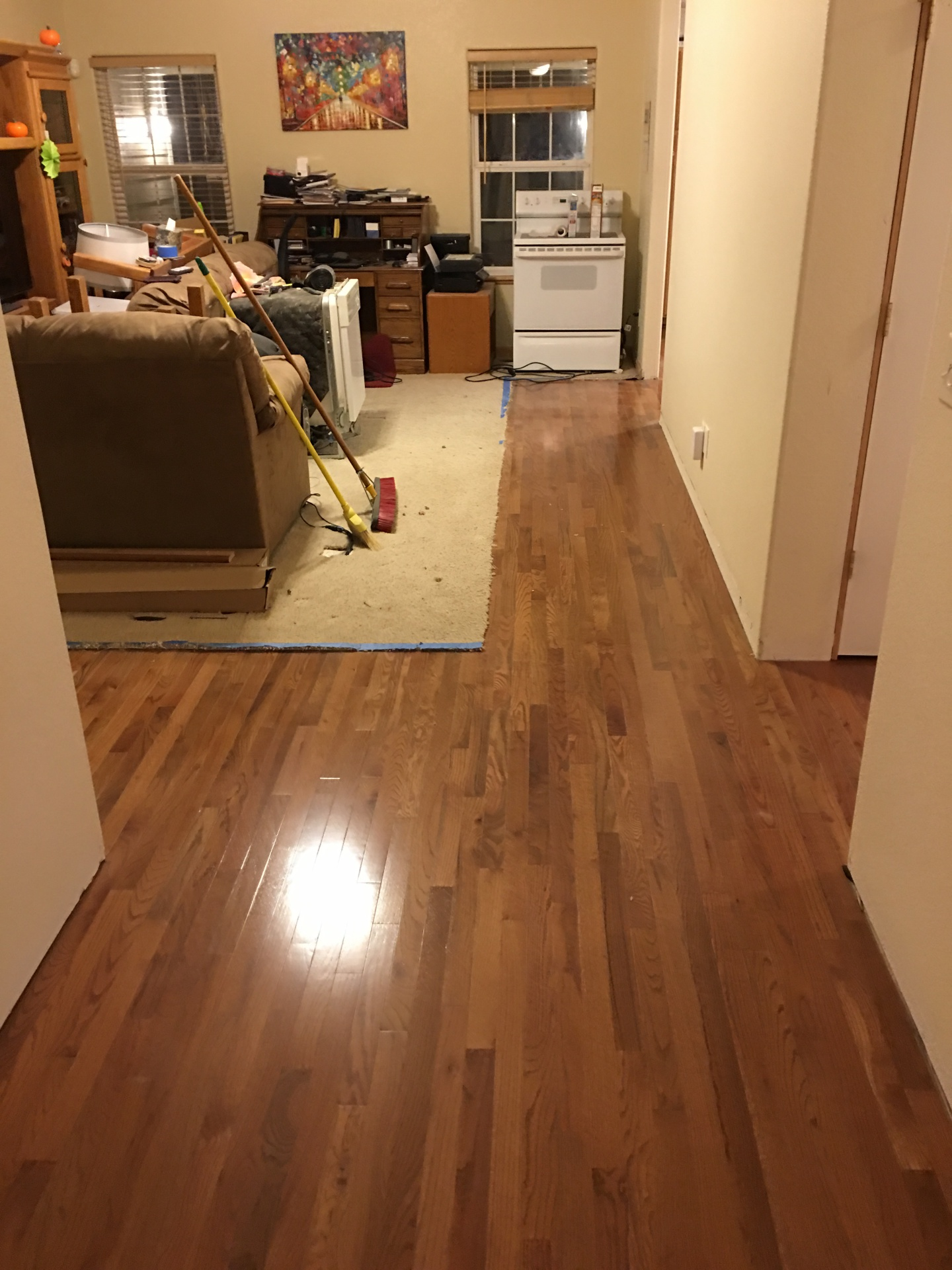Hall, oak, Hardwood, solid
