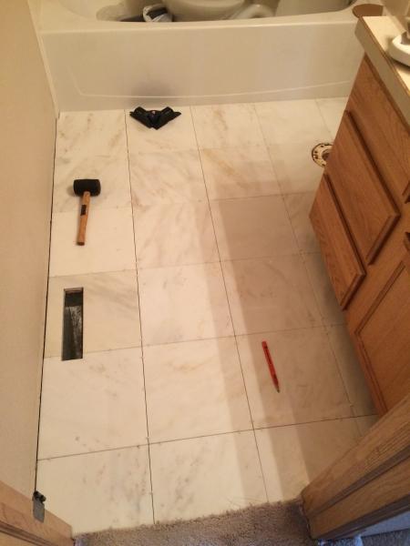 Bathroom, Marble, Tile