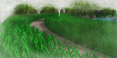 Path to Natural Swimming Pool | A Sussex Dower House | John Ward Garden Design