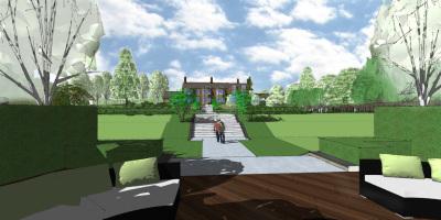 Entertainment Area | A Sussex Dower House | John Ward Garden Design
