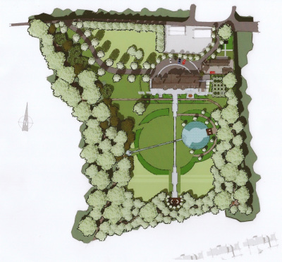 Master Plan | A Sussex Dower House | John Ward Garden Design