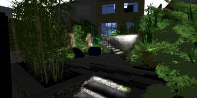 Soft Lighting | Forest Hill | John Ward Garden Design