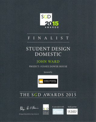 SGD Awards Finalist Certificate for John Ward