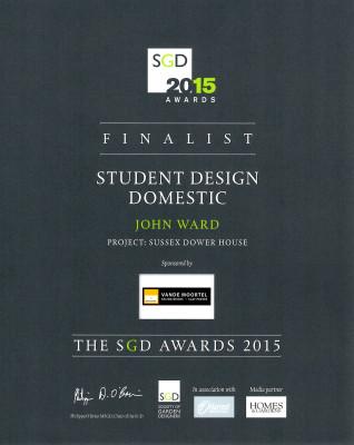 SGD Awards Finalist Certificate for John Ward