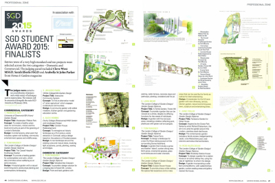 Garden Design Journal article about the SGD Awards finalists featuring John Ward
