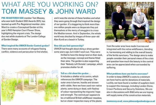 Garden Design Journal Article about John Ward & Tom Massey