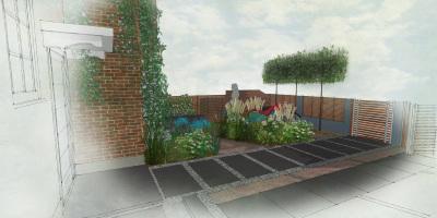 Contemporary Garden | Shepherds Bush Garden Design | Front Garden