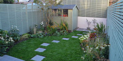 Photo of a small Chiswick garden designed by John Ward Garden Design