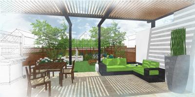 Visual of Balham garden designed by John Ward Garden Design