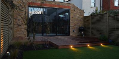 Photo of Acton garden decking designed by John Ward Garden Design