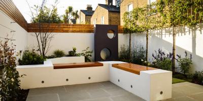 A Contemporary Courtyard Garden in Balham designed by John Ward Garden Design