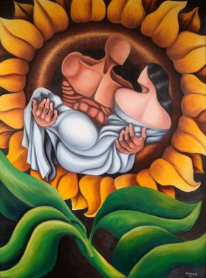 Lovers in Sunflower