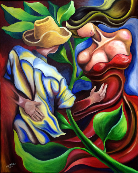 "Dancing 24""x30"" Oil on Canvas"