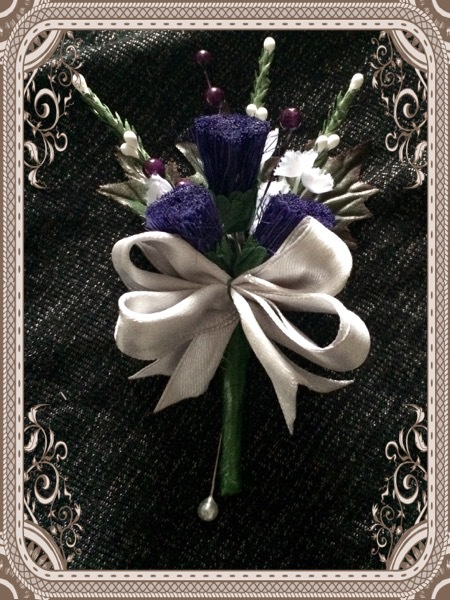 Gents Thistlle Buttonhole from £3.50