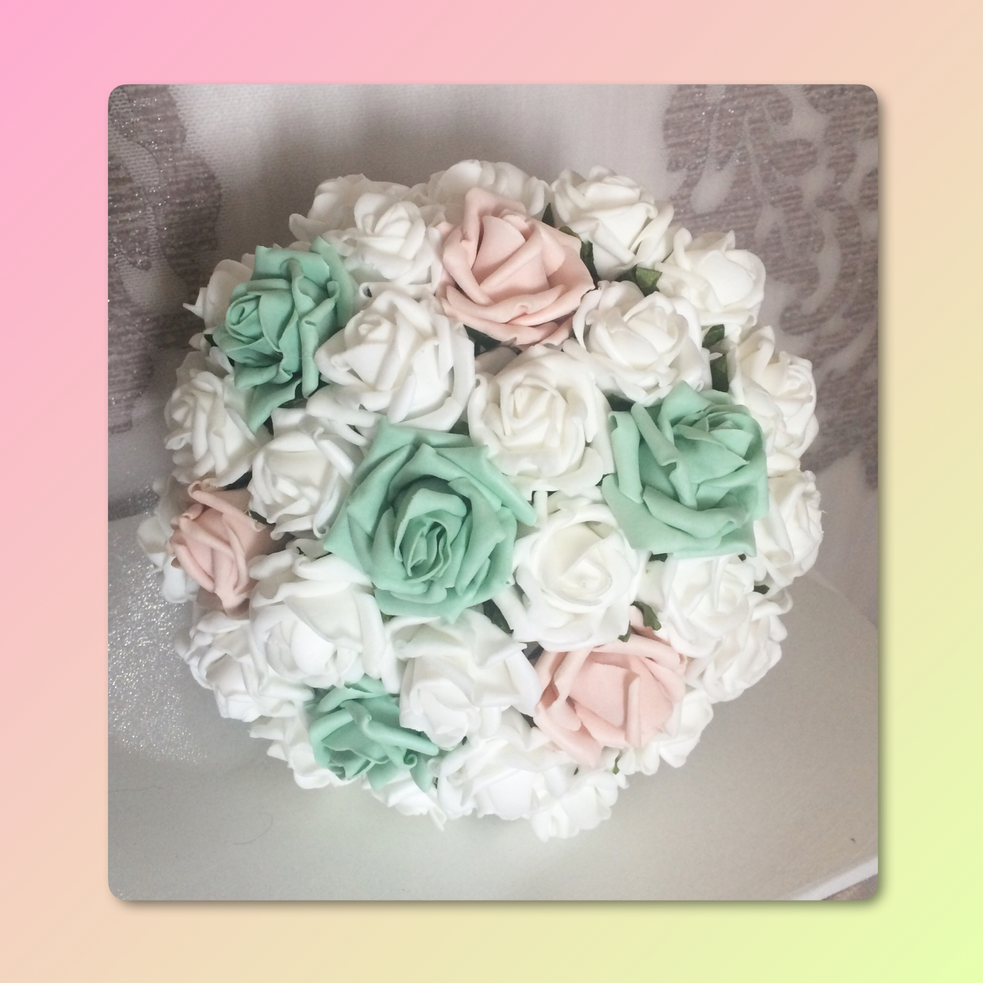 Pure Love Bridesmaid Bouquet with diamante touches £20.00