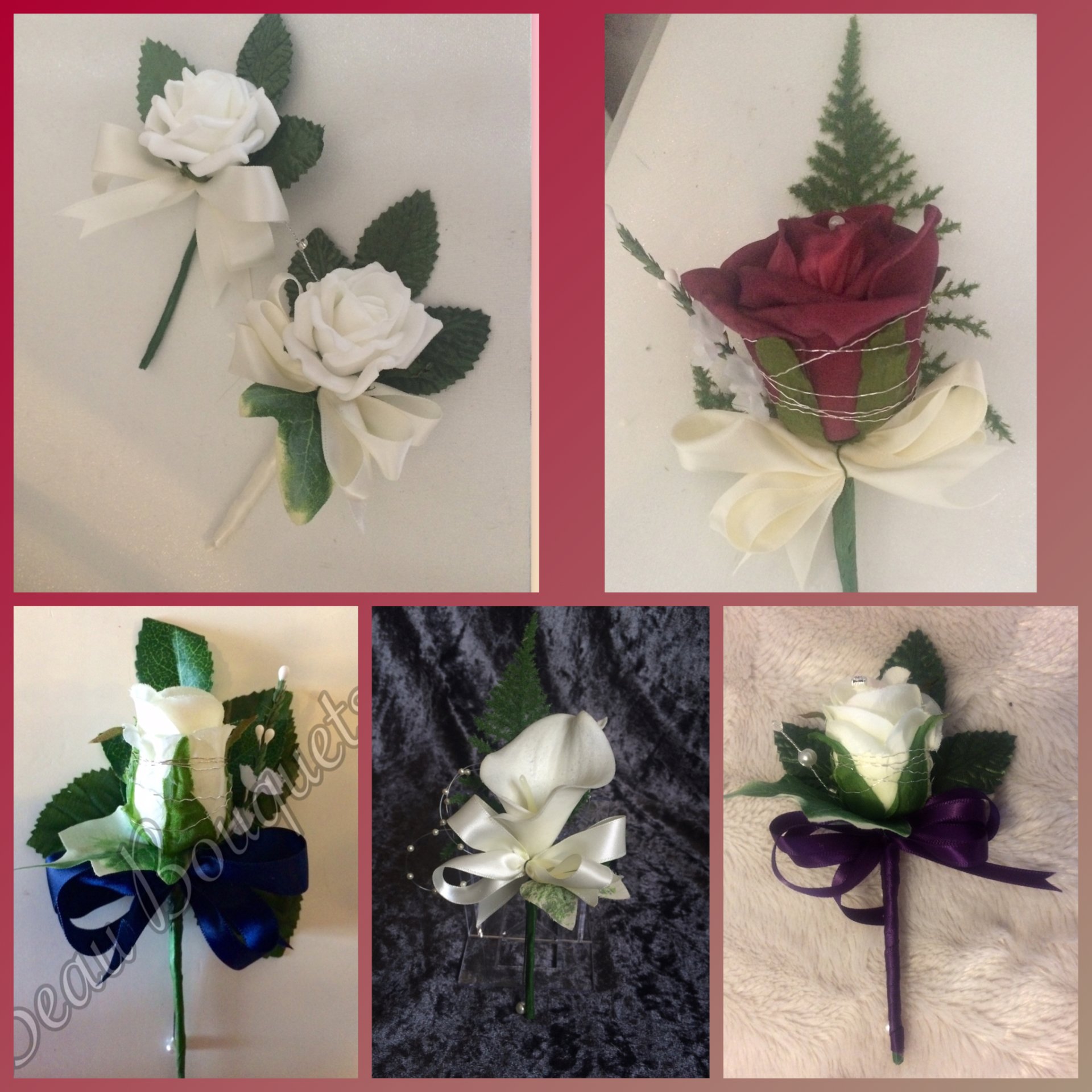 Sample grooms & gents buttonhole examples