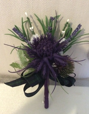 Scottish Heather and Thistle Grooms Buttonhole from £8