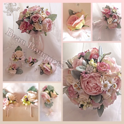 J'ADORE - VINTAGE BLUSH PEACH & PINKS PEONY & ROSE PACKAGE