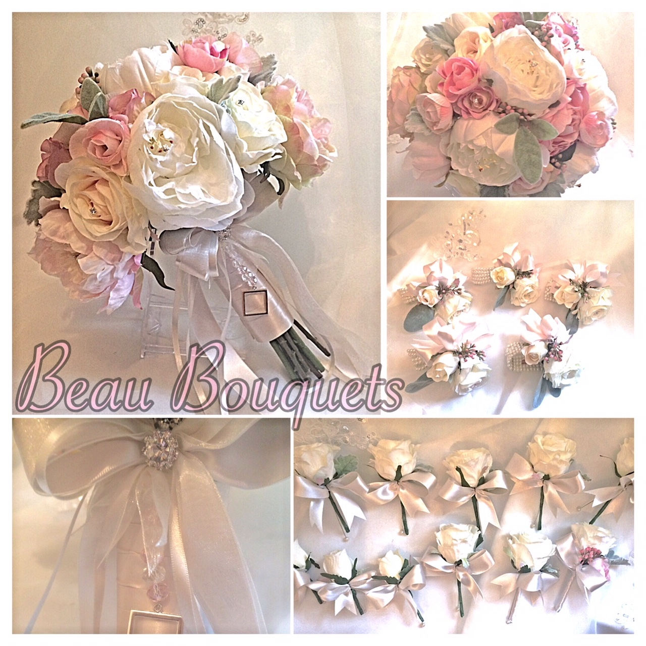ALWAYS - VINTAGE PINKS & IVORY PEONY & ROSE PACKAGE