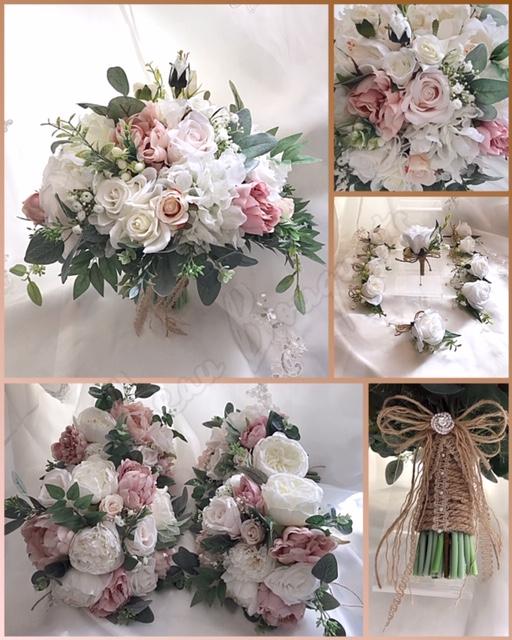 WHITE LACE & PROMISES - Hydrangea, roses, ranunculous, lisianthus