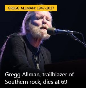 Gregg Allman Passes Away At 69