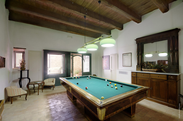 Exclusive to guests - the billiards room