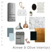 Kitchen design, copper, mood board