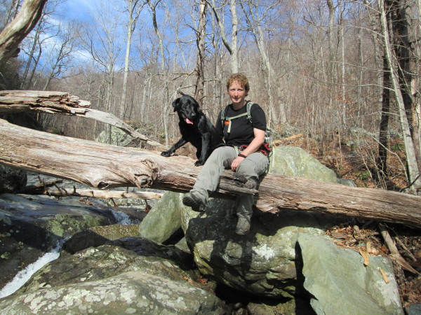 Jessie hiking in the Blue Ridge Mountains