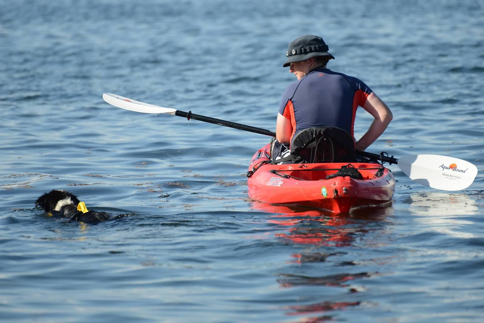 Kayaking with Fielder