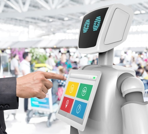 Full Service and Business Robot at Innovators Store