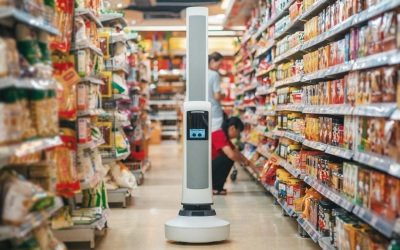 Restaurants Service Robot at Innovators Store