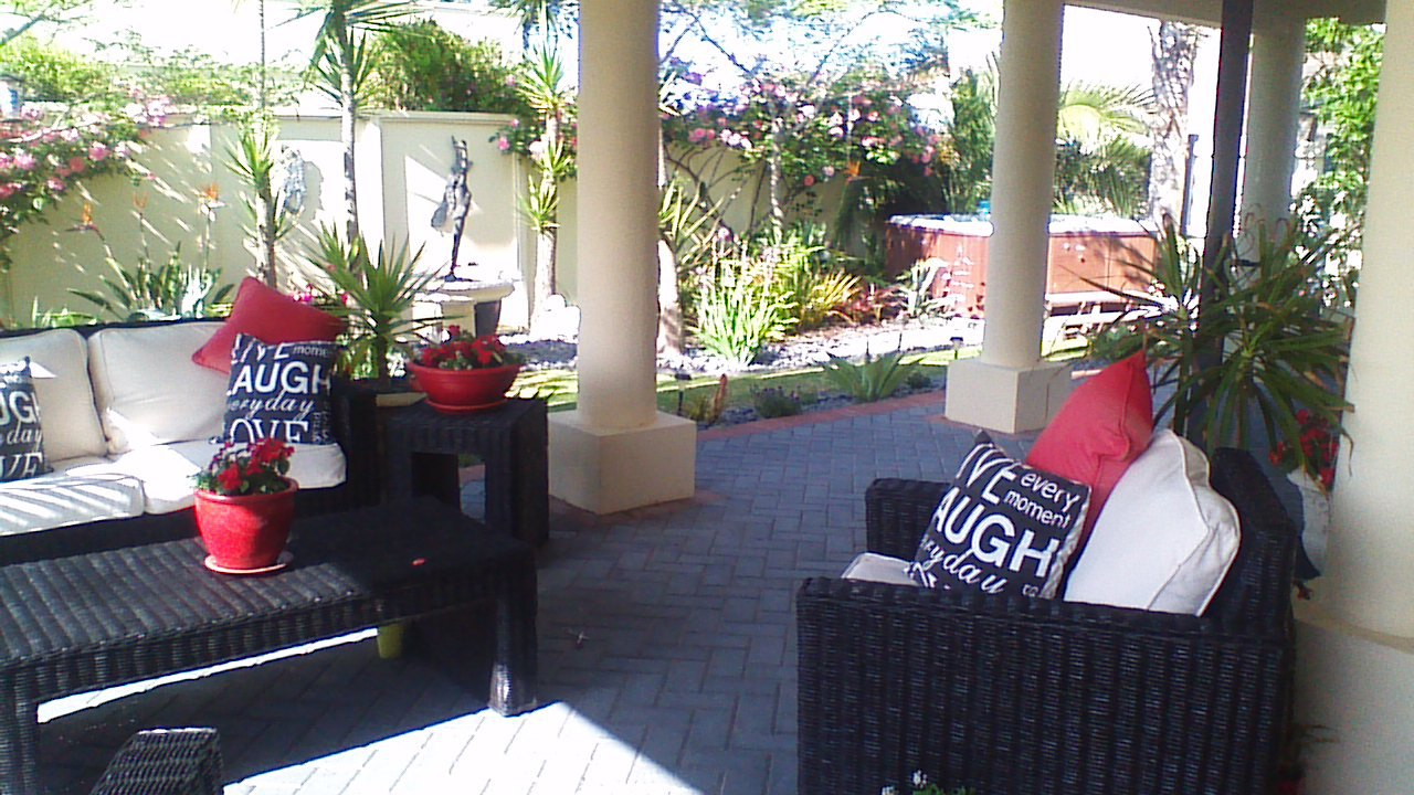 Enjoy the Private Garden Area