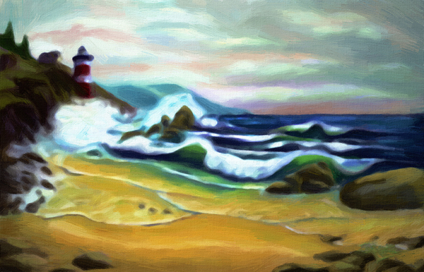 The Lighthouse directing through the storm