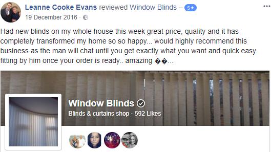 Vertical Blinds Happy Customer