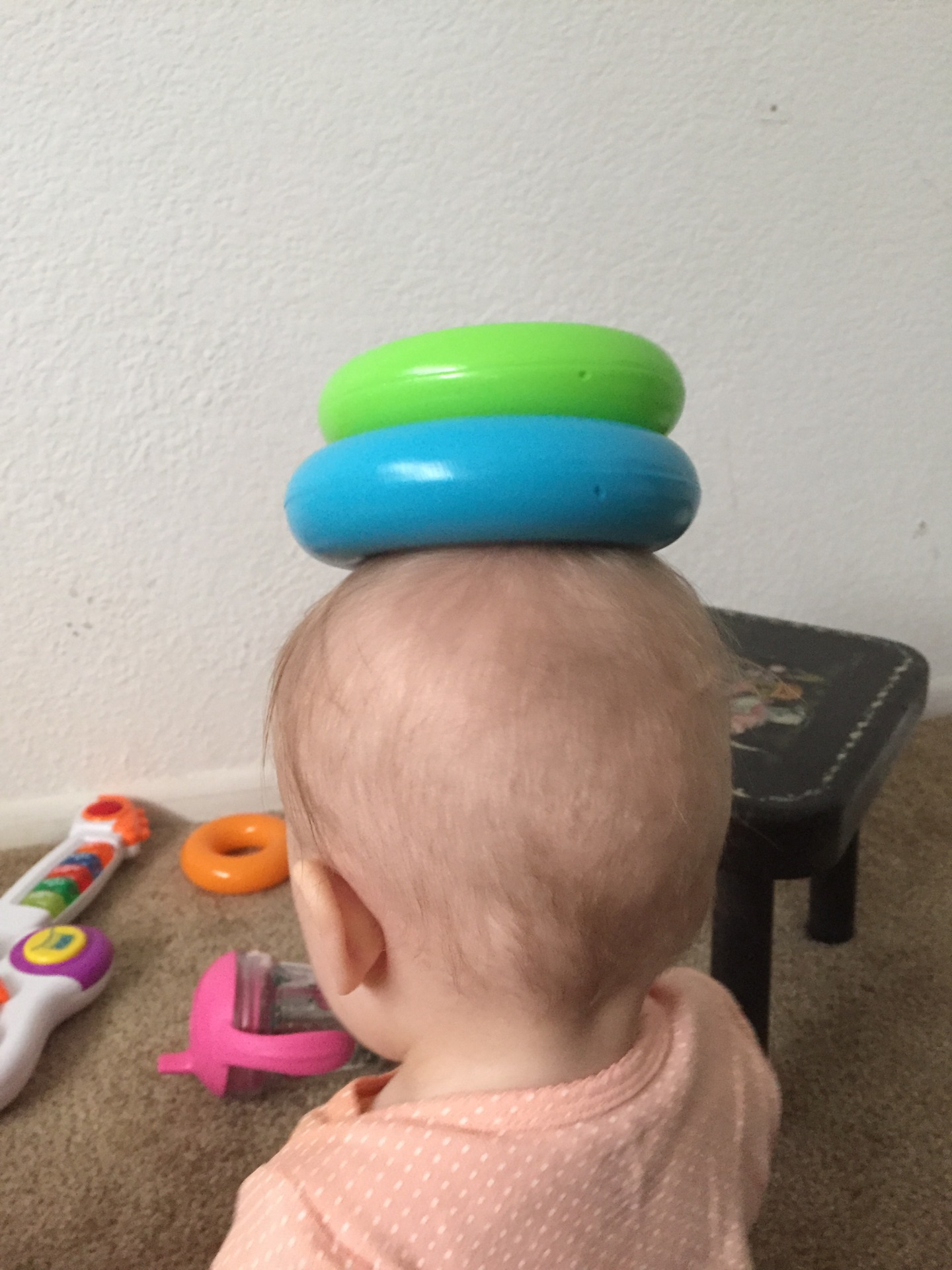 The balancing act of parenting, literally.
