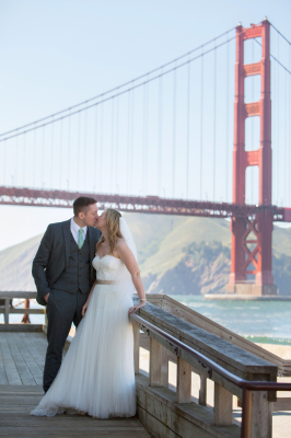 Bride & Groom at the Golden Gate Bridge