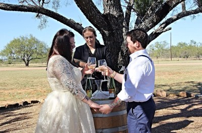 Bride & Groom in Fredericksburg, Texas