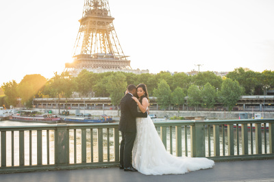 Bride & Groom in Paris, France
