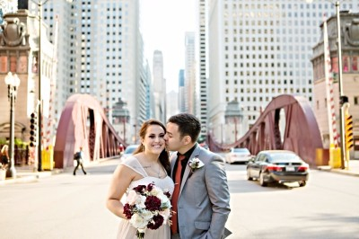 Bride & Groom eloping in Chicago