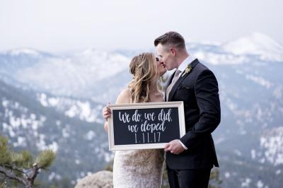 Brandi & Justin on Flagstaff Mountain